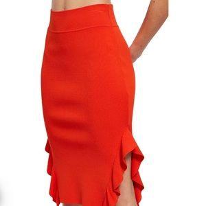 Opening Ceremony Orange Ruffle Flounce Skirt Small